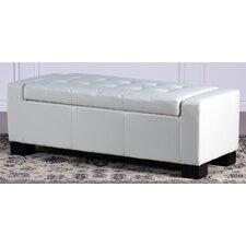 <strong>Home Loft Concept</strong> Guernsey Leather Storage Ottoman