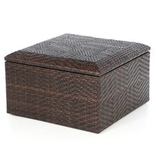 Brenner Indoor/Outdoor Wicker Storage Ottoman