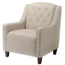 Marquise Tufted Leather Club Chair
