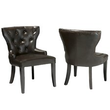 Emmanuel Leather Accent Chairs (Set of 2)