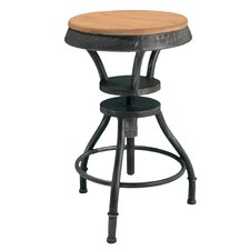 "Lucian 24"" Adjustable Bar Stool with Cushion"