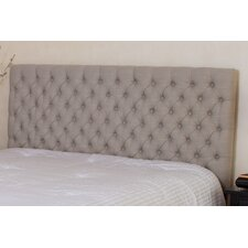 Finnegan Button Tufted Fabric Headboard