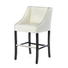 "Carimi Milano Bonded Leather 28"" Quilted Barstool"