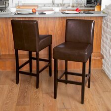"Classic 29"" Adjustable Bar Stool with Cushion (Set of 2)"