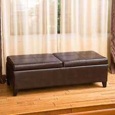 Taren Double Lift Top Leather Storage Ottoman