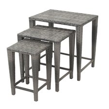 3 Piece Outdoor Side Table Set