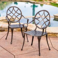 Brunswick Cast Aluminum Copper Outdoor Dining Chair (Set of 2) (Set of 2)