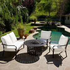 Calabria 4 Piece Fire Pit Chat Set