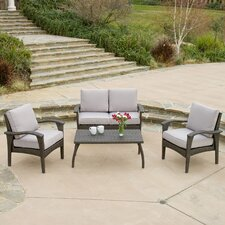 Poinsetta 4 Piece Deep Seating Group with Cushions