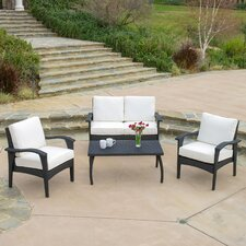 <strong>Home Loft Concept</strong> Poinsetta 4 Piece Deep Seating Group with Cushions