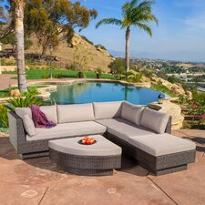 Malakia 4 Piece Multibrown Wicker Sofa Set
