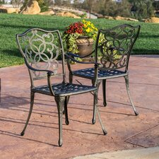 Gibraltar Cast Aluminum Outdoor Chair (Set of 2)