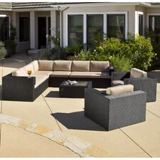 Manhattan 7 Piece Sectional Deep Seating Group with Cushion
