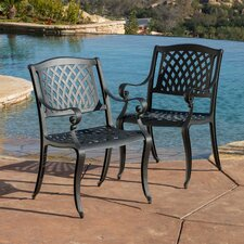 Sydney Sand Cast Aluminum Outdoor Chair (Set of 2) (Set of 2)
