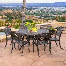 Sydney 7 Piece Cast Aluminum Outdoor Dining Set