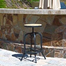 Wright Weathered Oak Adjustable Bar Stool