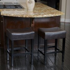 "Develin 27"" Backless Leather Counterstools (Set of 2)"