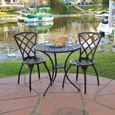 Enrique 3-Piece Cast Aluminum Bistro Set