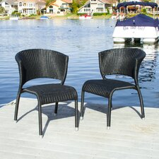 Yonkers Outdoor Wicker Chairs (Set of 2) (Set of 2)