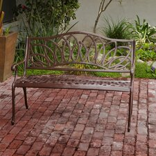Ramsey Spiral Cast Aluminum Outdoor Bench