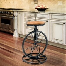 Raylene Bicycle Wheel Adjustable Barstool