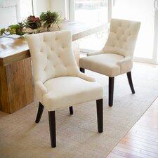 Vanda Tufted Beige Dining Side Chair (Set of 2)