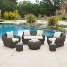 Beaufort Outdoor 6 Piece Wicker Seating Set