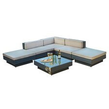 Mallorca 6 Piece Deep Seating Group with Beige Cushions