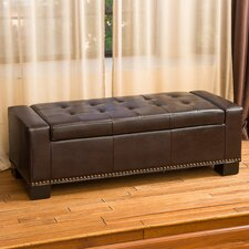 Landis Leather Storage Bedroom Bench