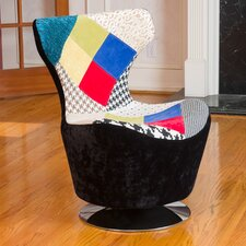 Coney Patchwork Swivel Arm Chair