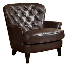 Peyton Tufted Faux Leather Club Chair