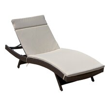 Domini Outdoor Wicker Adjustable Chaise Lounge with Cushions (Set of 2)
