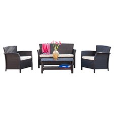 Trieste 4 Piece Seating Group with Cushions
