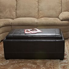 Drea Bonded Leather Ottoman (Set of 3)