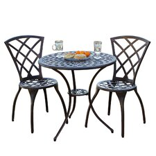 Enrique 3 Piece Cast Aluminum Bistro Set