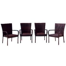 <strong>Home Loft Concept</strong> Outdoor Wicker Bar Chair (Set of 4)