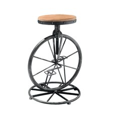 Michaelo Bicycle Wheel Adjustable Bar Stool with Cushion