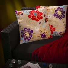 Embroidered Flower Pillow (Set of 2)