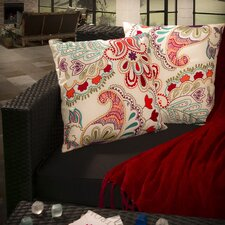 "Theresa 18"" Embroidered Paillette Pillows (Set of 2) (Set of 2)"