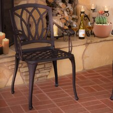 Stephanie Cast Aluminum Outdoor Dining Chairs (Set of 2)