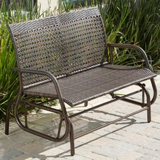 Maui Wicker and Aluminum Park Bench