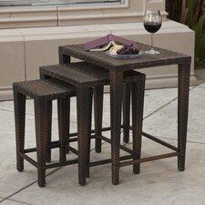 Santiago 3 Piece Wicker Nesting Table Set