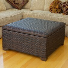 Wicker Indoor/Outdoor Storage Ottoman