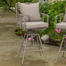Albert Iron Pipe Outdoor Adjustable Barstool