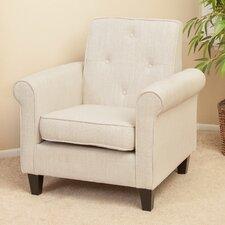 Marshall Tufted Beige Fabric Club Chair