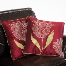 "Tranquil 18"" Tulip Pillows (Set of 2) (Set of 2)"