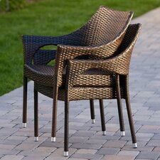 Norm Outdoor Wicker Chairs (Set of 2) (Set of 2)