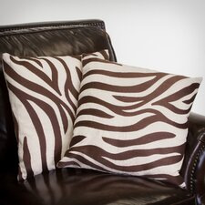 "Sahara 18"" Zebra Pillows (Set of 2) (Set of 2)"