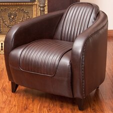 Pamela Channeled Leather Club Chair