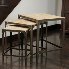 Milford Weathered Wood Tables (Set of 3) (Set of 3)
